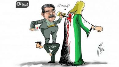 صورة صالح مسلم قائد مليشيا الديموقراطي الكردي يؤيد دخول الروس