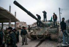 صورة قوات الأسد تهاجم جوبر بتغطية جوية روسية