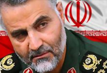 صورة سليماني إيران تقتل السوريين باسم العالم