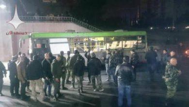 صورة الثوار يفجرون باص مبيت لقوات الحرس الجمهوري بدمشق