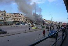 صورة داعش يفجر مفخخة في حي الزهراء الموالي بحمص