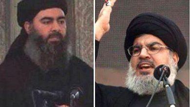 صورة نصر الله والبغدادي في خندق واحد ضد السعودية