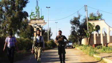 صورة 35 قتيلاً من تنظيم داعش في محيط مارع