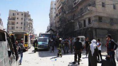 صورة حلب تتعرض لأعنف الهجمات الجوية والمجازر في ازدياد