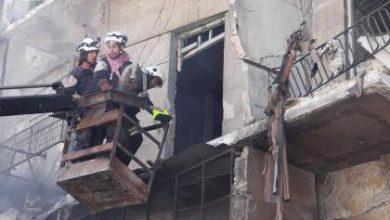 صورة مجازر الأسد مستمرة في حلب