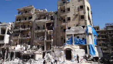 صورة قصف جوي متجدد على حلب يودي بحياة ثلاثين مدنياً