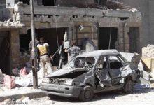 صورة قصف جوي ومدفعي على حلب المحررة يودي بحياة 10 مدنيين