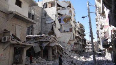 صورة طيران الأسد يكثف من قصفه لحلب ويرتكب مجازر
