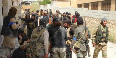 صورة ألوية صقور الشام تؤكد أنها من مؤسسي جيش الفتح ولم تخرج حتى تعاود الانضمام