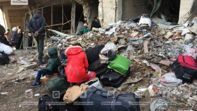 صورة من بين المهجرين أكثر من 50 يتيم كانوا عالقين في حصار حلب