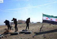 صورة قصف متبادل في محيط حلب بين الثوار وقوات الأسد