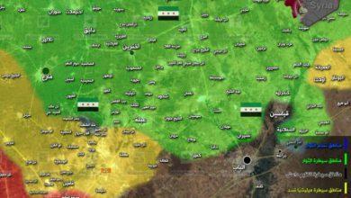 صورة قوات الأسد والمليشيات على مشارف الباب شرق حلب