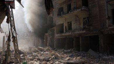 صورة تقرير لرايتس ووتش يؤكد قصف الأسد لحلب بالكيماوي