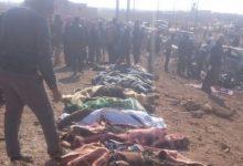 صورة سقوط 200 شخص بين شهيد وجريح بمفخخة داعشية قرب الباب