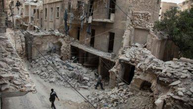 صورة قصف جوي ومدفعي عنيف تتعرض له قرى وبلدات جنوب وغرب حلب