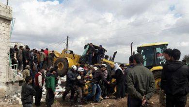 صورة قصف جوي ومدفعي على ريف ادلب يوقع شهداء وجرحى