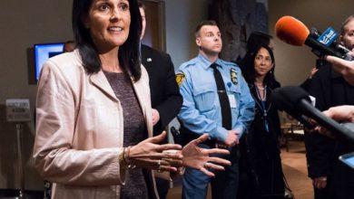 صورة المندوبة الأميركية في مجلس الأمن تؤكد احتمال توجيه ضربات جديدة للأسد