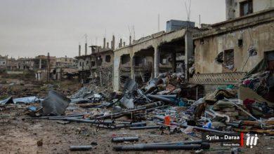 صورة عشرات القتلى من قوات الأسد في المنشية بدرعا