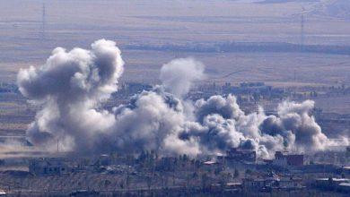 صورة قنبلة كتب عليها تحية من مانشستر ألقتها طائرة بريطانية على سوريا