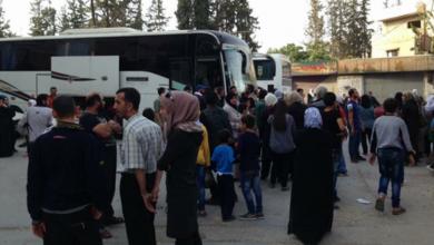 صورة قوات الاسد تهجّر سكان الهامة وقدسيا بريف دمشق نحو ادلب