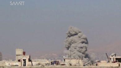صورة قوات الاسد لا تلتزم بهدنة الغوطة وتواصل هجومها على جوبر