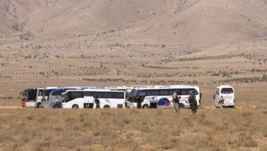 صورة عملية نقل داعش من جرود القلمون بدأت اليوم