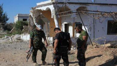 صورة مجزرة بحق 18 مدني على يد شبيحة الأسد في ريف حماة