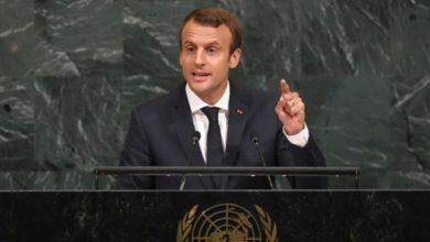 صورة ماكرون: بشار الأسد مجرم ومحادثات أستانا لا تكفي