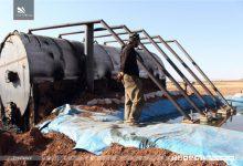 صورة تجارة المحروقات تزدهر في ريف حلب مع إقتراب فصل الشتاء