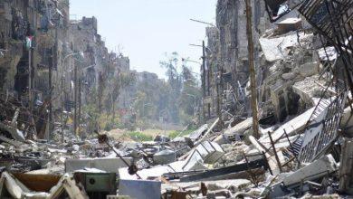 صورة اشتباكات بين الثوار وتنظيم داعش في مخيم اليرموك والأهالي يستغيثون