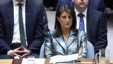 صورة هيلي: روسيا وإيران مسؤولتان عن المذابح بسوريا