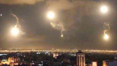 صورة غارات إسرائيلية تستهدف أسلحة إيرانية في مطار دمشق