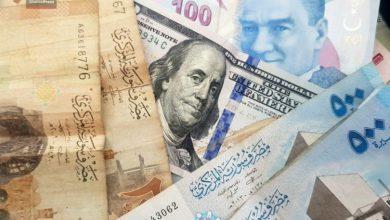صورة الليرتان السورية والتركية مقابل العملات والذهب الجمعة 14 شباط