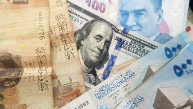 صورة الليرتان السورية والتركية مقابل الذهب والدولار واليورو الثلاثاء 25 شباط
