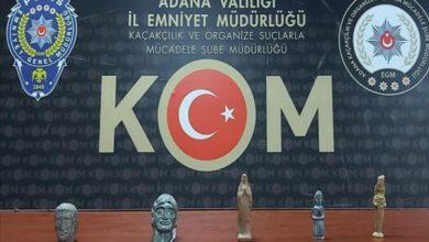 صورة الأمن التركي يضبط 5 تماثيل أثرية مهربة من سوريا