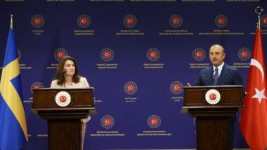 صورة مشادة كلامية حادة بين وزير الخارجية التركي ونظيرته السويدية