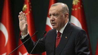 صورة أردوغان معلقا على قصف إدلب: روسيا لا تدعم السلام بالمنطقة
