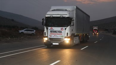 صورة قافلة مساعدات تركية ضخمة تصل إلى سوريا