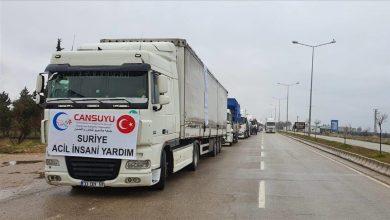 صورة تتضمن ملابس شتوية ومواد غذائية.. تركيا ترسل مساعدات إلى إدلب