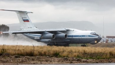 صورة طائرة عسكرية روسية تصل ليبيا قادمة من سوريا