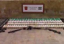 صورة ضبط شاحنة أسلحة لميليشيا YPG في مدينة الباب شمال حلب