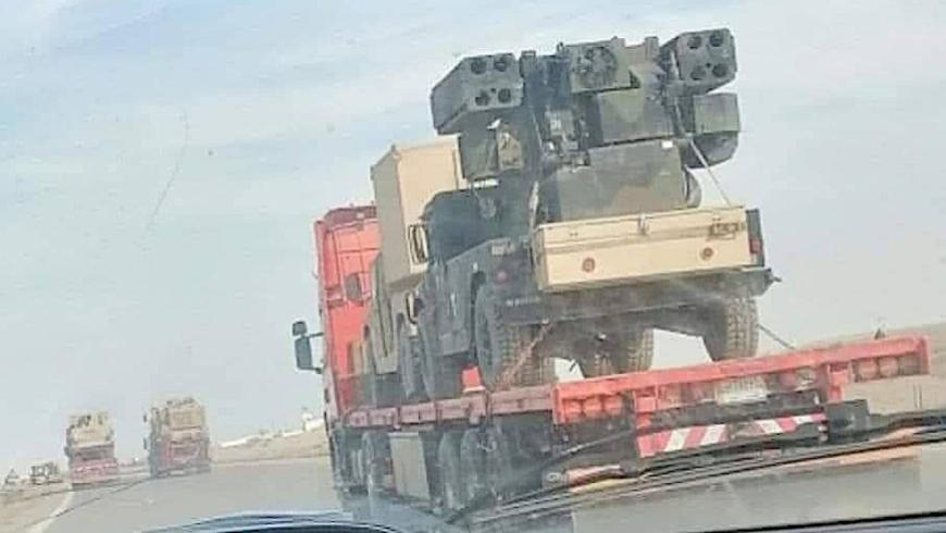 صورة التقطت على الطريق بين مدينة الرمادي العراقية والحدود السورية