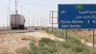 صورة معبر نصيب الحدودي مع سوريا يفتح أبوابه من جديد