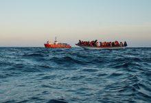 صورة سفينة ألمانية تنقذ 330 لاجئ معظمهم سوريين