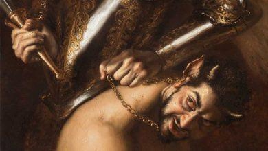 """صورة لوحة تثير ضجة واسعة.. ورسامها يوضح سبب تشابه """"الشيطان"""" مع بن زايد"""