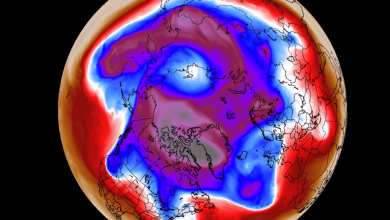 """صورة استيقاظ القبة القطبية """"الستراتوسفيرية"""" الشمالية مبكراً ينذر بشتاء بارد"""