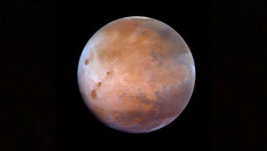 """صورة """"مسبار الأمل"""" يكتشف كميات أكبر من المتوقع من الأكسجين في كوكب المريخ"""