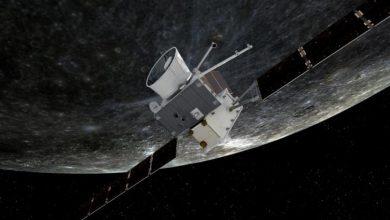 صورة مركبة فضائية أوروبية – يابانية مشتركة ترسل أولى الصور اكوكب عطارد